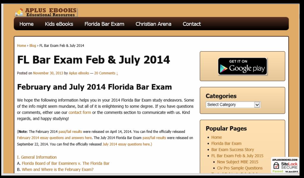 Florida bar exam dates in Perth