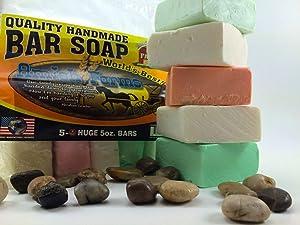 Amish Farms Quality Handmade Soap Variety Bag 5 soaps