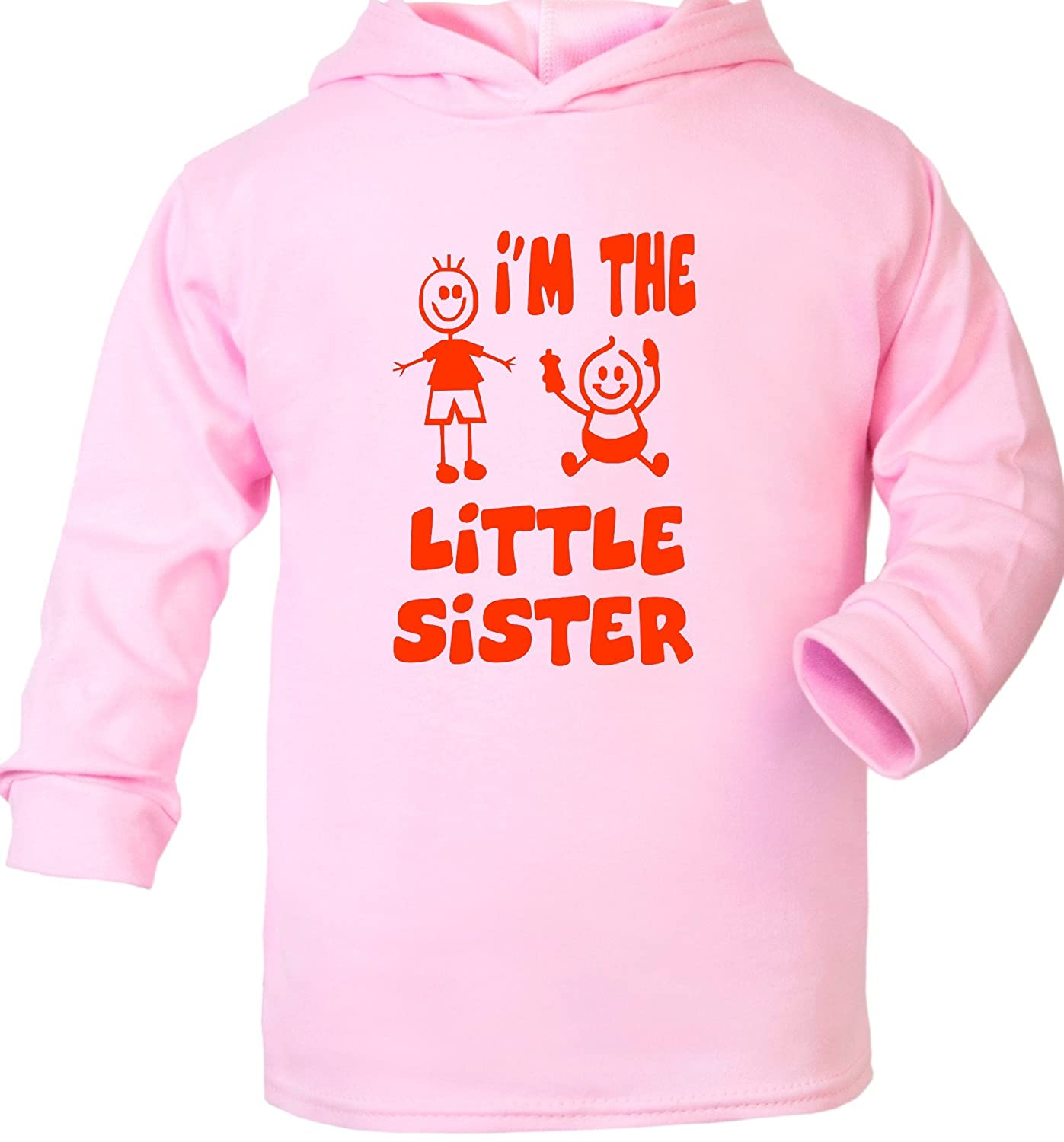 Print4U Im The Little Sister Supersoft Baby Hoodie 0-2 Years