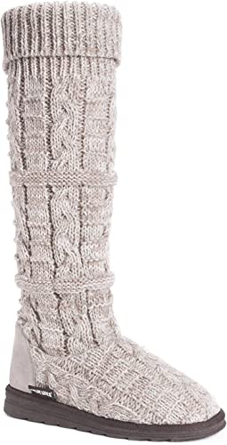 MUK LUKS Womens Shelly Boots-Grey Fashion