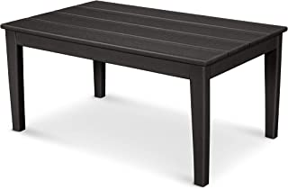 """product image for POLYWOOD Newport 22"""" x 36"""" Coffee Table, Black"""