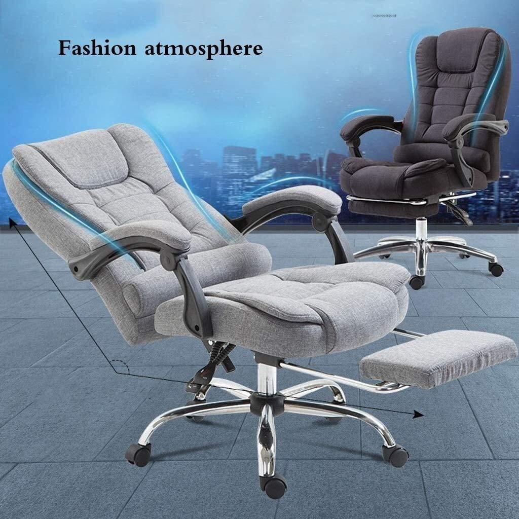 DBL Executive vilande dator skrivbordsstol med fotstöd, nackstöd och ländrygg kudde stöd möbler skrivbordsstolar (färg: svart) Brun