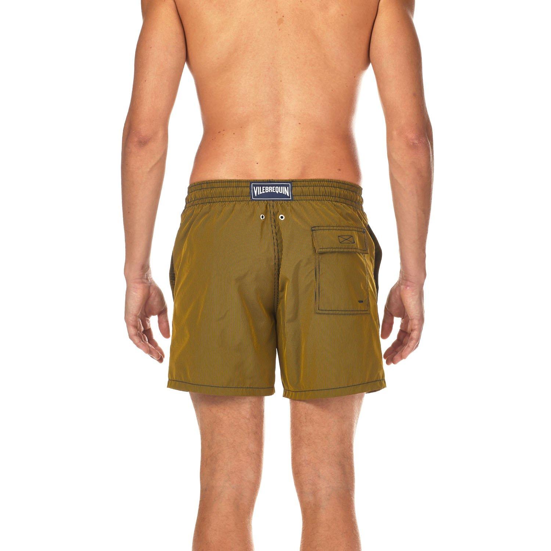 Vilebrequin Micro Rayures Graphic Swim Shorts - Men - Turmeric - L by Vilebrequin (Image #2)