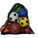 Extra Large Sports Drawstring Mesh Ball Bag Training Equipment Storage Bag Diving Goods Organizer With Shoulder Strap