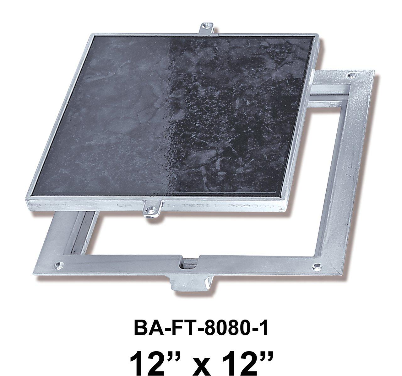 12'' x 12'' Removeable Floor Door - 1'' Recess for Ceramic Tile / Concrete