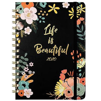Agenda, 2020 Agenda semanal A5, Diario de Hermosa Portada para Mujer