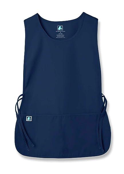 Adar Uniforms delantal Laboral Unisex Con Bolsillos, Para Trabajos de Belleza y Médicos - 702 Color NVY | Talla: Regular: Amazon.es: Ropa y accesorios