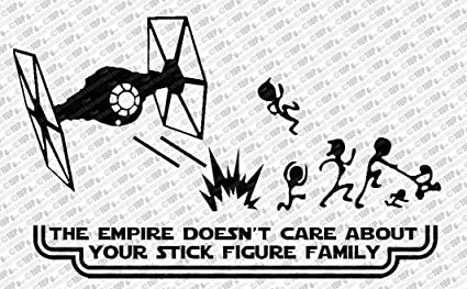 d2df40b0bb41 Amazon.com  Collectible Decals The Empire Doesn t Care About Your ...
