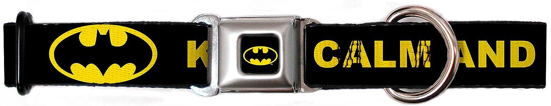 1.5\ Buckle-Down DC-WBM076-WL Dog Collar Seatbelt Buckle, Black Yellow, 1.5  by 18-32