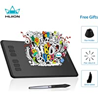 Huion Inspiroy H640P Graphics Drawing Tablet Digital Pen Tablet Battery-Free Stylus with 8192 Levels and 6 Express Keys for PC and Mac