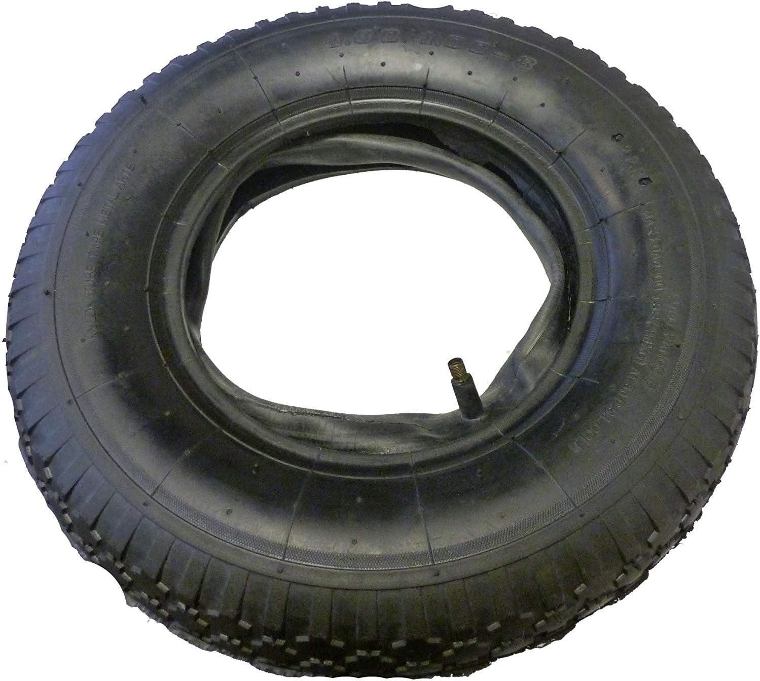 4.00-8 Inner Tube Tyres Bent Air Valve For Pneumatic Trolley Cart Wheel 4.80