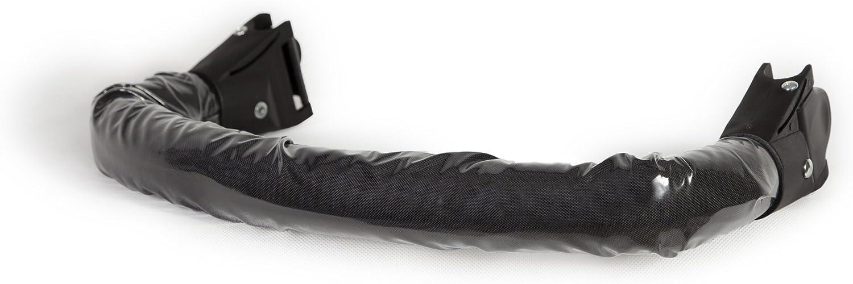 Kutnik Barra de seguridad para cochecitos, 20 mm de diámetro, color negro