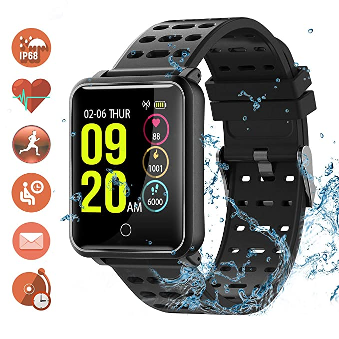 SmartWatch,TagoBee TB06 iP68 Waterproof Smart Watch Activity Fitness Tracker Pedometer Heart Rate Blood Pressure Monitor Step Counter Touchscreen ...