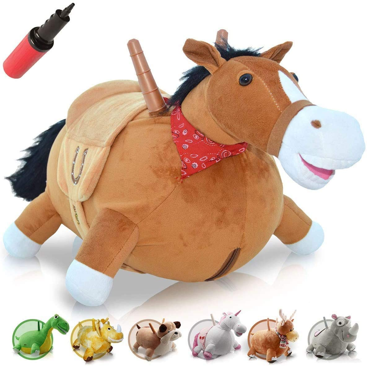 WALIKI Bouncy Horse Hopper | Inflatable Hopping Horse for Kids | Jumping Horse (Bouncy Horse)