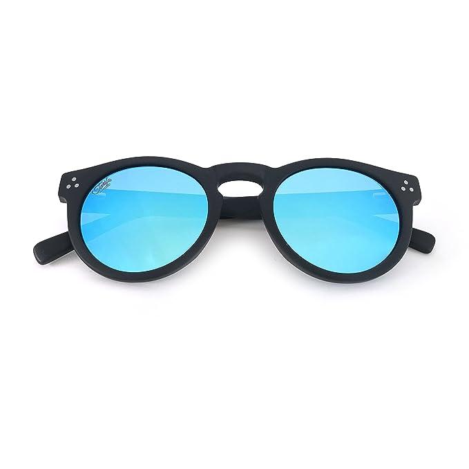 Amazon.com: Tarifa redondo anteojos de sol lentes ...