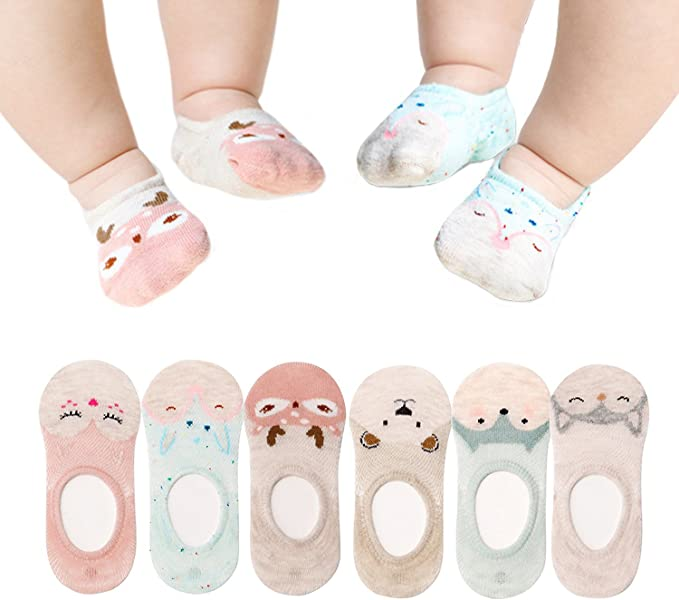 Toddler Little Boys Girl No Show Socks Cotton Low Cut for Baby Kids 10 Pairs
