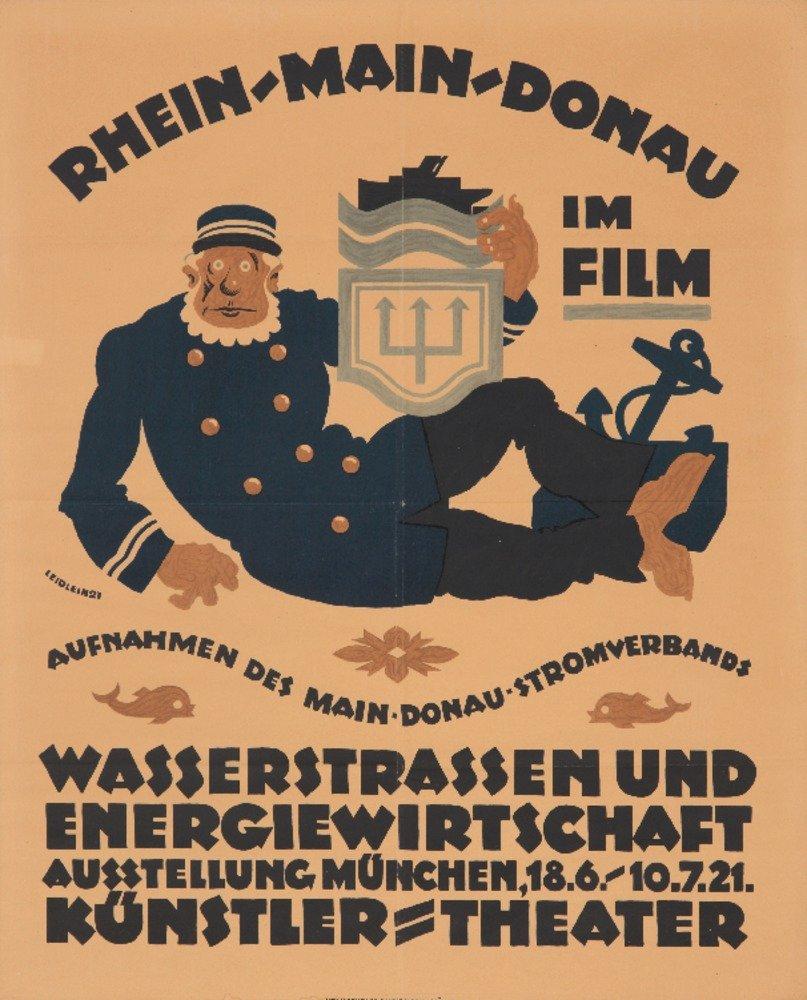 rhein-main-donauヴィンテージポスター(アーティスト: Leidlein )ドイツC。1921 36 x 54 Giclee Print LANT-74122-36x54 36 x 54 Giclee Print  B01MPVNE3Z