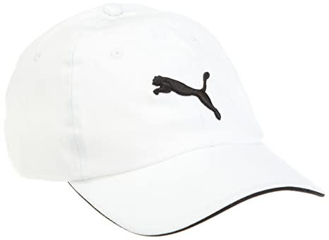 25091d3fc46 Buy Puma Cat Logo White Caps for Men   Womens - 84075604-X Online at Low  Prices in India - Amazon.in