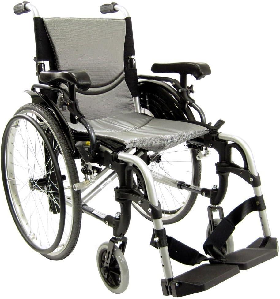 "Karman 29 pounds S-305 Ergonomic Wheelchair 18"" Pearl Silver: Health & Personal Care"