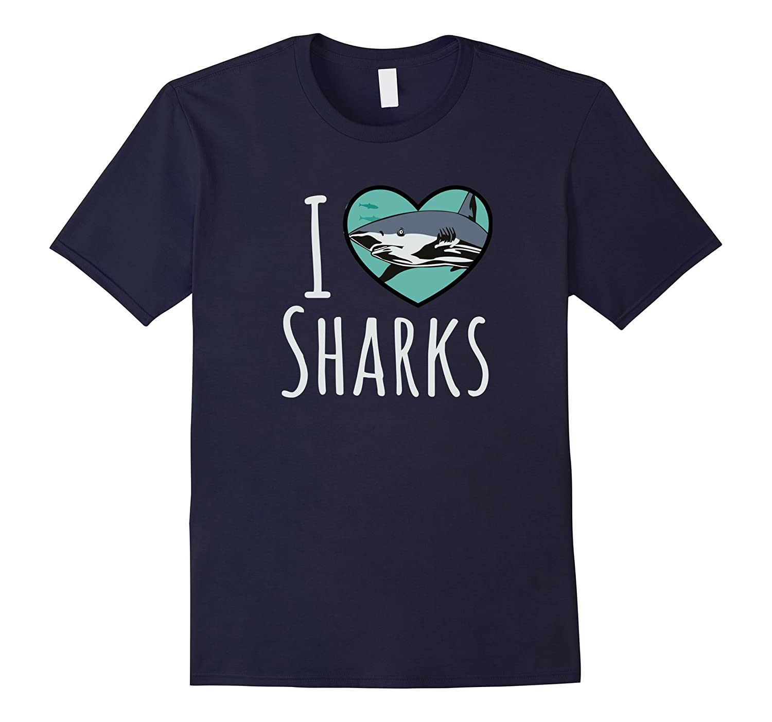 I Love Sharks Shirt Swimming Great White Shark Shirt-Vaci