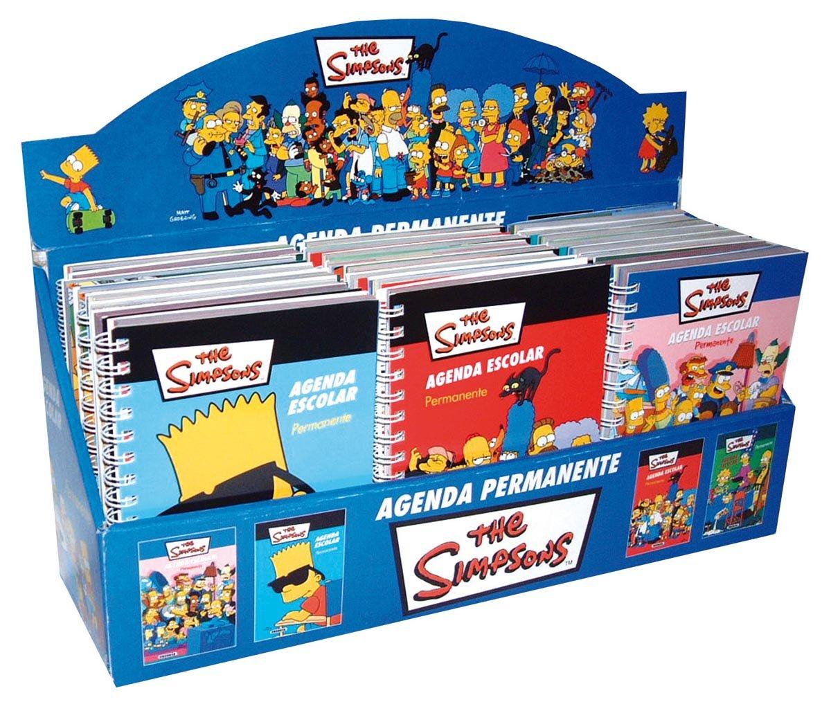 Estuche Agenda Escolar Simpsons (24 Ejemplares ...