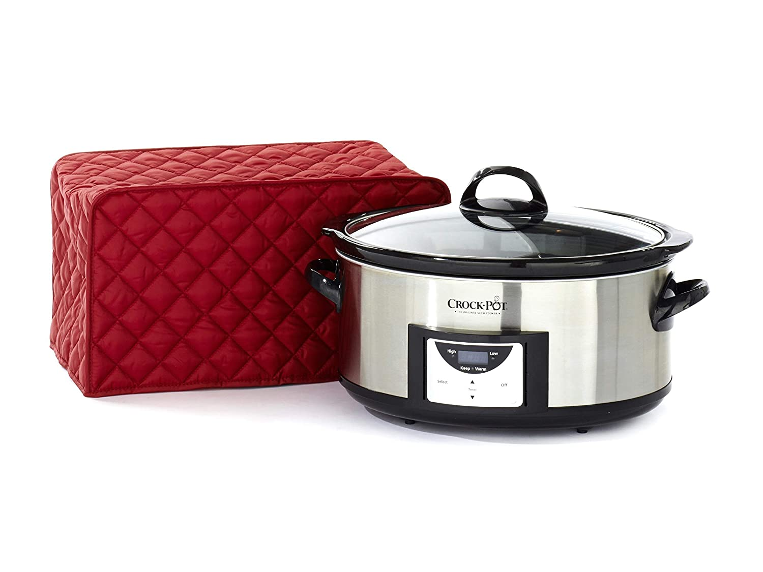 CoverMates – Slow Cooker Cover – 16W x 10D x 9H – Diamond Collection – 2 YR Warranty – Year Around Protection - Red