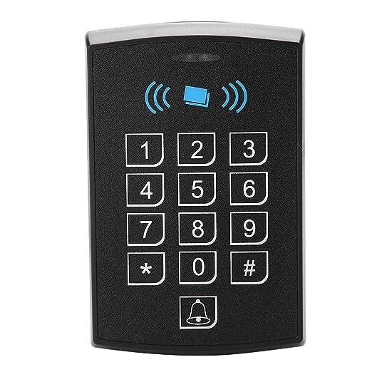 Controlador de Acceso, Tarjeta de proximidad sin Contacto RFID con Teclado Control de Acceso de Puerta de Seguridad(Black)
