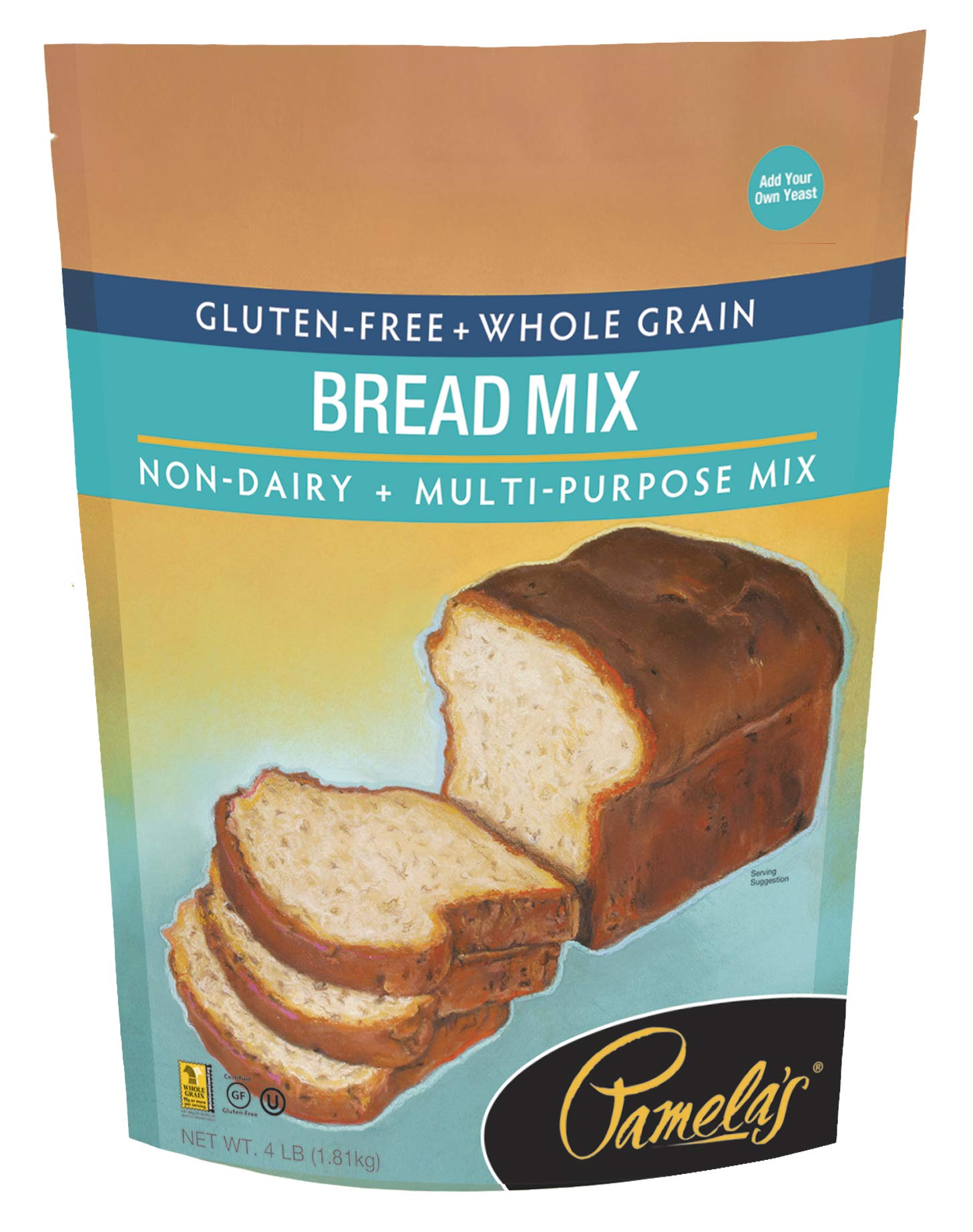 Pamela's Products Gluten-free Bread Mix, 4-Pound Bags (Pack of 3) by Pamela's Products