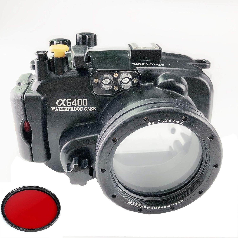 Meikon 40 m / 130ft 水中防水カメラハウジングケースSony a6400 16-50 mmレンズのための   B07R4RKRSK