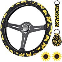 Sunflower Decor Steering Wheel Sleeve Case MeiBoAll Steering Wheel Cover Protector Neoprene Steering Wheel Wrap Anti Slip Steering Wheel Cover Trim for Car Vehicle SUV with Wheel 38cm 39cm 40cm