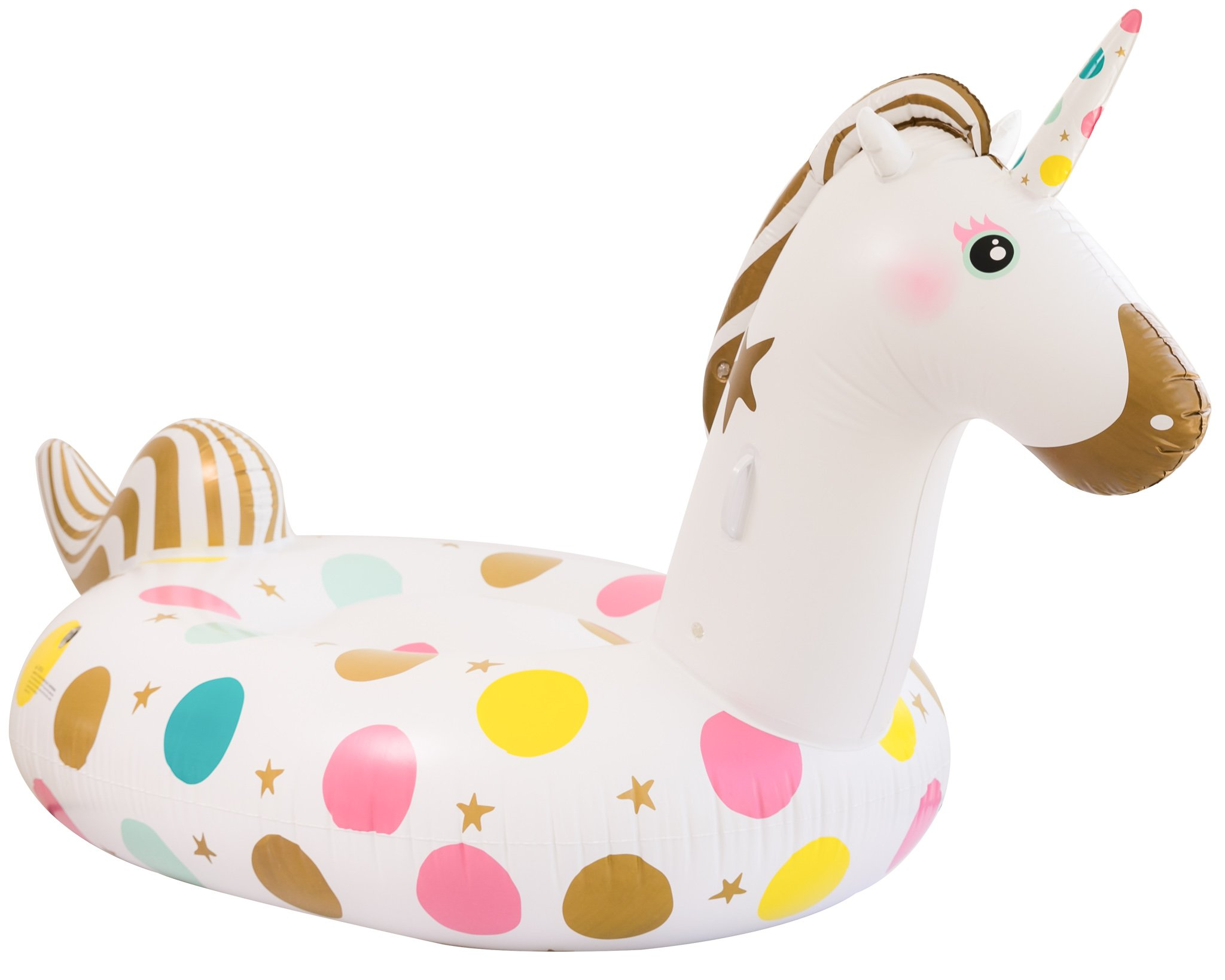 Unicorn Pool Float - Giant 107 x 44 x 55 Inches Inflatable Giant Unicorn Float Swimming Pool River Raft Float Unicorn… 4