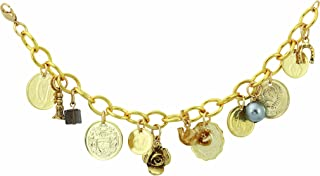 product image for Gold-Layered Foreign Coins Charm Coin Bracelet Coin Jewelry