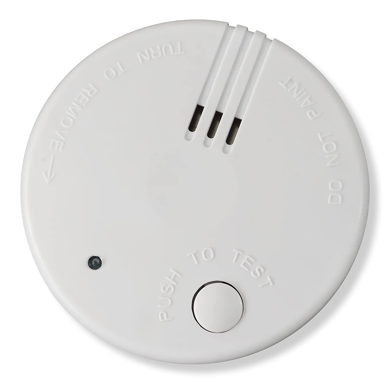 20x Detector de Humo Nemaxx Mini-FL2 Mini Detector de Fuego y Humo con batería de Litio de Acuerdo con la Norma DIN EN 14604 + 20x Nemaxx Fijación ...