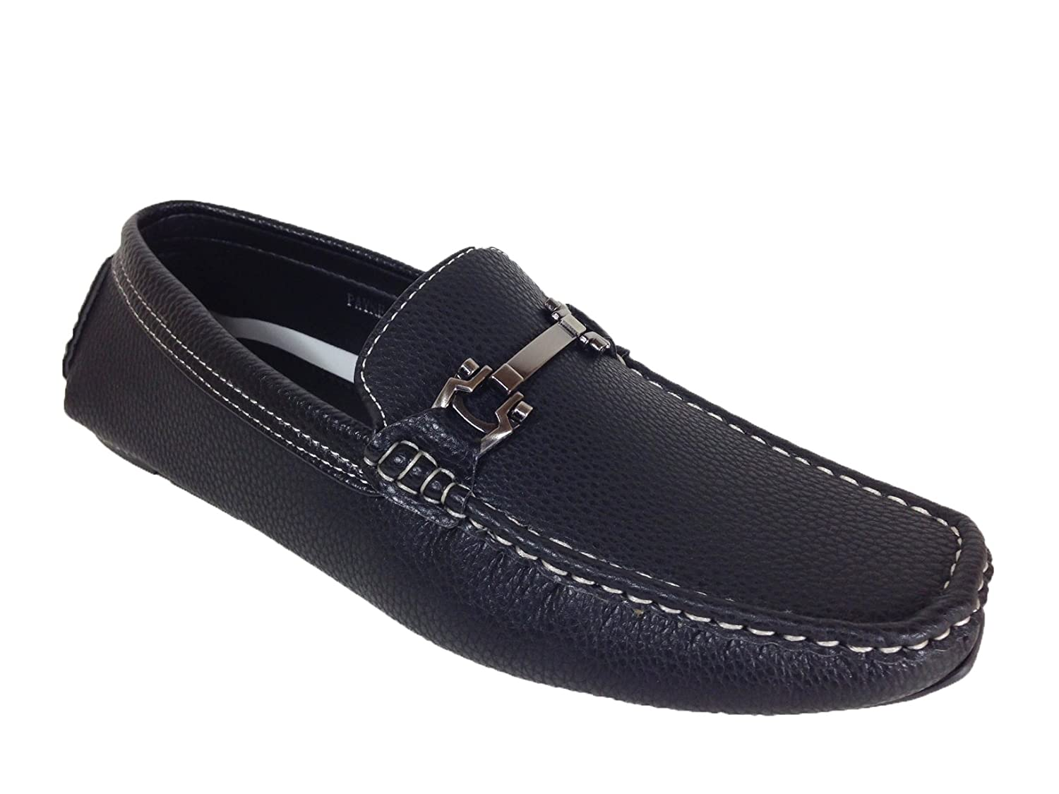 Brixton Men's Casual Light Weight Horse Bit Buckle Driving Moccasins Comfortable Driver's Loafers Shoes (Vipfootwear)