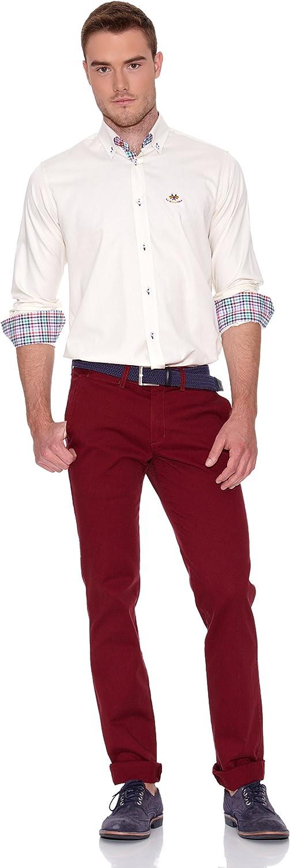 La Española Camisa Hombre Manga Larga Crudo S: Amazon.es: Ropa y accesorios