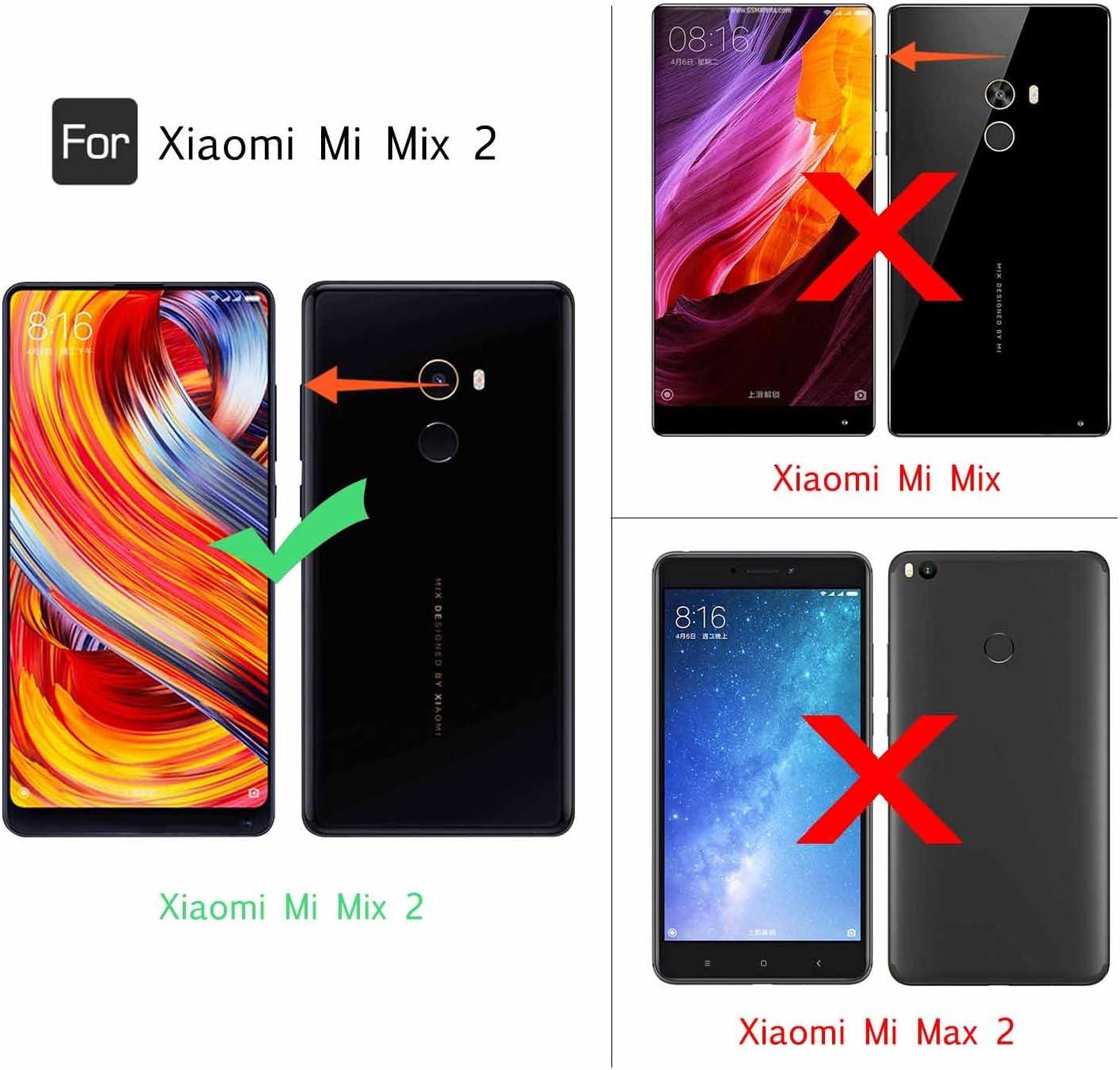 LeYi Funda Xiaomi Mi Mix 2 Silicona Purpurina Carcasa con HD ...