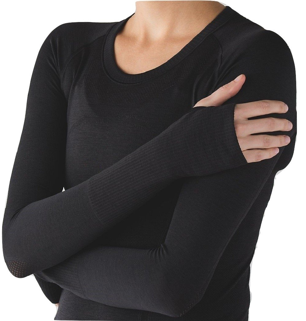 Lululemon Swiftly Tech Long Sleeve Crew Black (8)