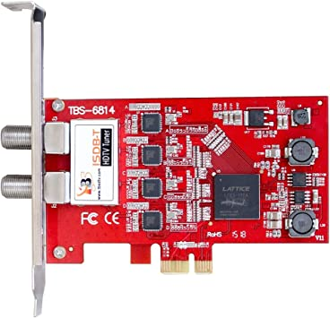 TBS 6814 ISDB-T Quad Tuner PCIe Card TV Turner Live TV Receiver for IPTV Streaming Server