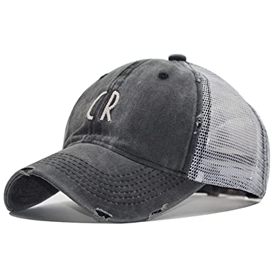 ANDERDM CR Letter Mens Baseball Cap Summer Mesh Cap Hats for Men Women Snapback Gorras Hombre