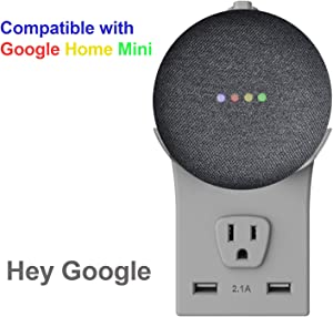 Outlet Wall Mount Made for Google Home Mini - A Space-Saving Solution for Your Smart Home Speakers, No Wires or Screws