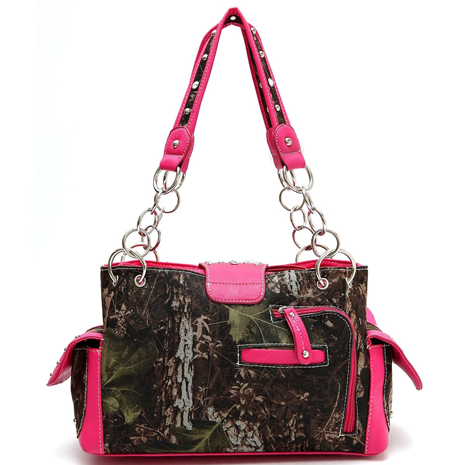 Cowgirl Trendy Leaves & Trees Satchel with Buckle FML28 8469B