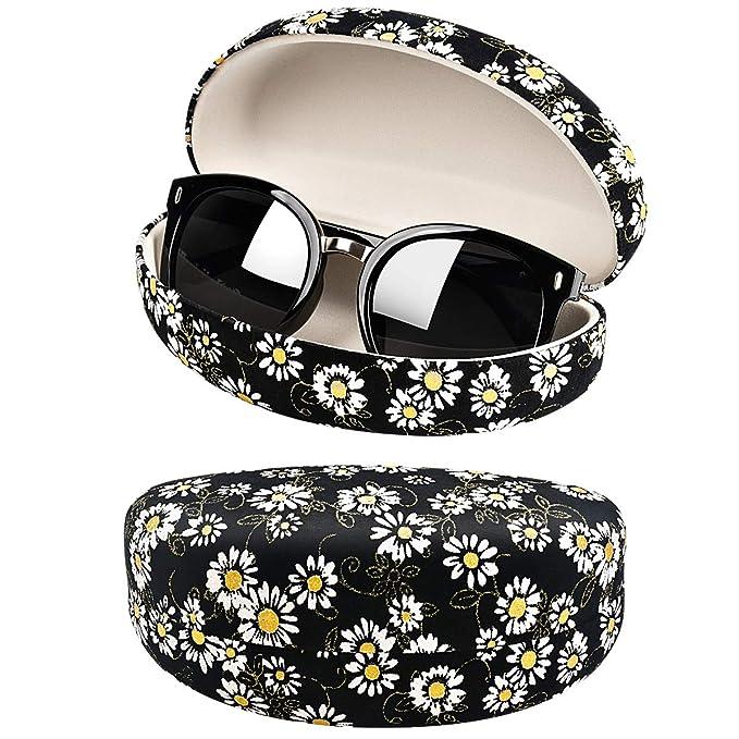 Amazon.com: Funda para gafas de sol con diseño de flores y ...