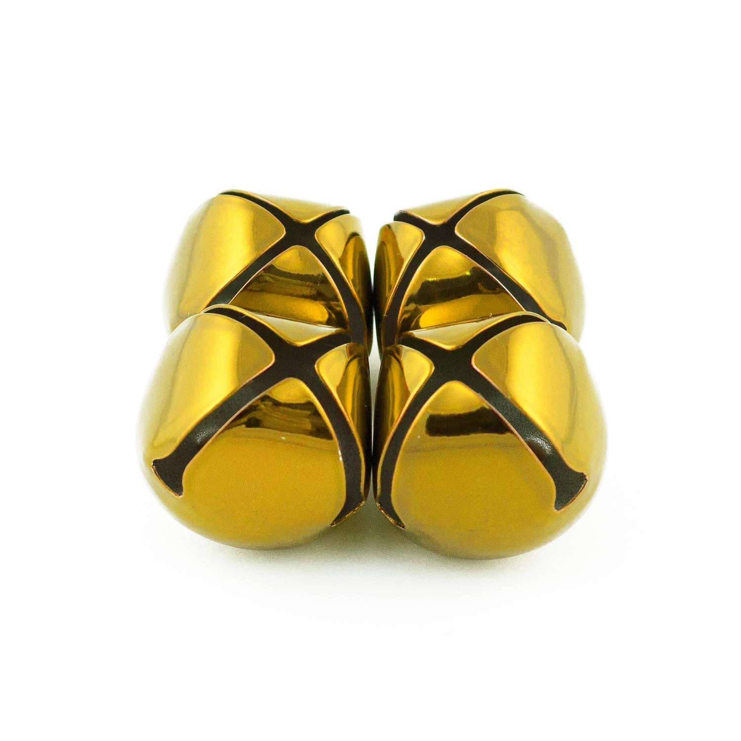 1.25 inch 30mm Large Gold Jingle Bells Bulk 100 Pieces by Art Cove (Image #4)