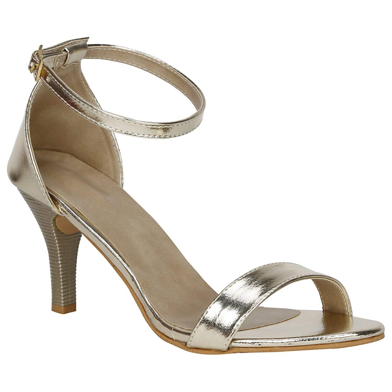 SHOFIEE Women's Gold Leather Party/Casual Heels (B07H1CW14C) Amazon Price History, Amazon Price Tracker