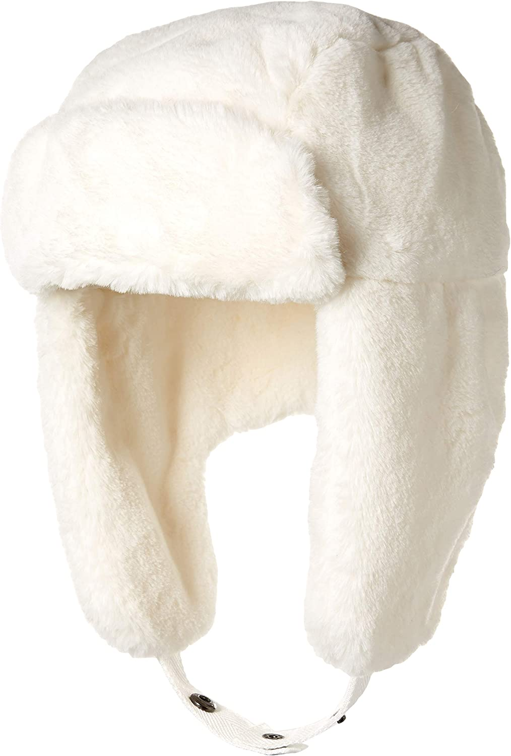 Essentials Women's Faux Fur Trapper Hat, Ivory, One Size: Clothing