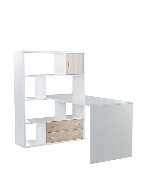 Schreibtisch holz weiß  Phönix 806259WE Einhänge-Schreibtisch, Holz, weiß, 70 x 120 x 66 ...