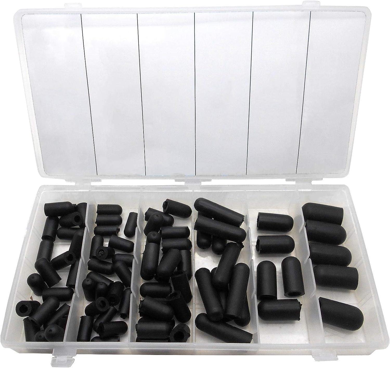 80 Pcs Carburetor and Vacuum Rubber V Cap Assortment Kit Rubber Protective End Cap Kit Auto Repair Super-Deals-Shop