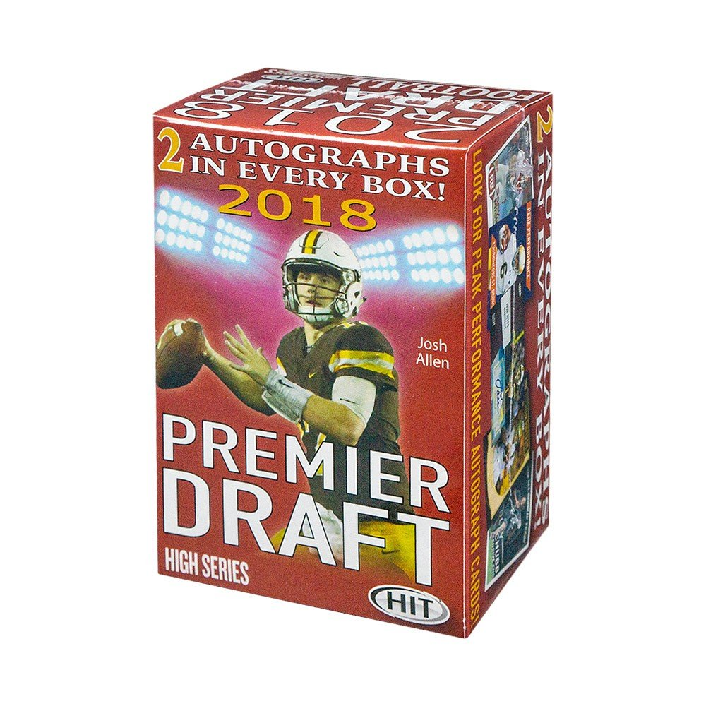 2018 Sage Hit Premier Draft High Series Football Blaster Box Sage Hit High Series