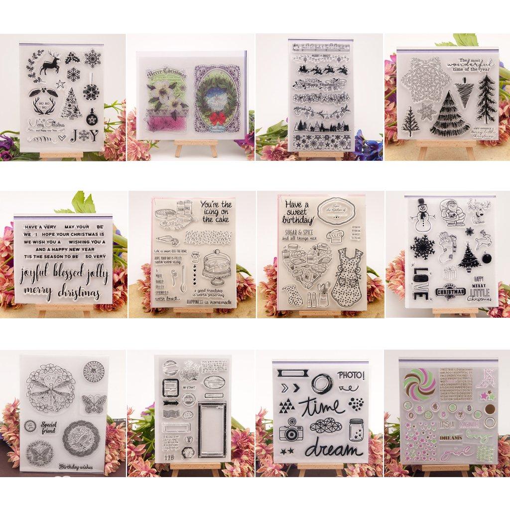 Foto Pr/ägung Album Dekorative//Kartenherstellung Transparente Silikon Stempel Frischhaltefolie DIY Handwerk Kunst Dchaochao Zucker Mehl DIY Gummi Perfekt Klar Stempel