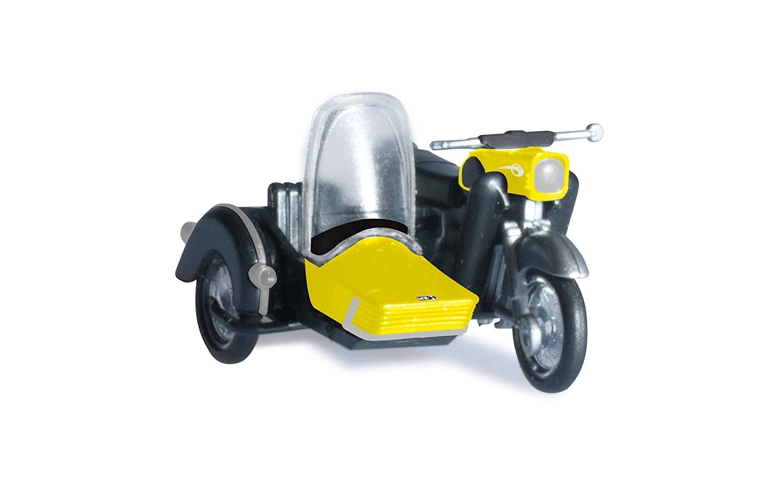 HERPA 053433-003 Mz 250 with Matching Sidecar Model Set Yellow//Black